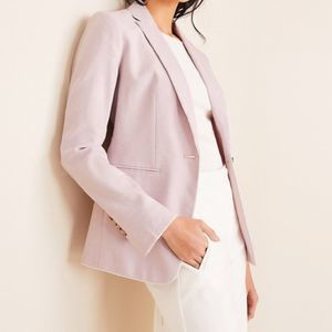 Ann Taylor Hutton Blazer in Piped Herringbone 6